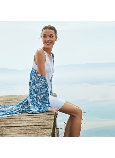 Nautica W117SABTK.MAVI Nautıca Kadın Mavi Sabahlık Takımı Mavi